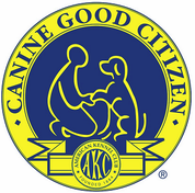 Image of AKC's Canine Good Citizen (R) Program logo and link to AKC's CGC web page